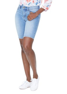 NYDJ Briella Frayed Denim Shorts in Pampelonne