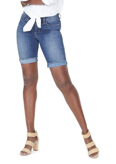 NYDJ Briella Frayed Denim Shorts in Zimbali