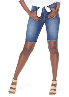 Not Your Daughter's Jeans NYDJ Briella Frayed Hem Denim Bermuda Shorts