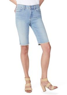 NYDJ Briella Frayed Hem Denim Bermuda Shorts (Westland)
