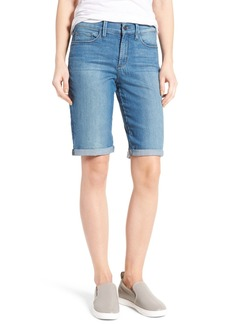 Not Your Daughter's Jeans NYDJ Briella Stretch Denim Roll Cuff Shorts (Jet Stream) (Regular & Petite)