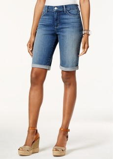 Not Your Daughter's Jeans Nydj Briella Tummy-Control Cuffed Denim Bermuda Shorts