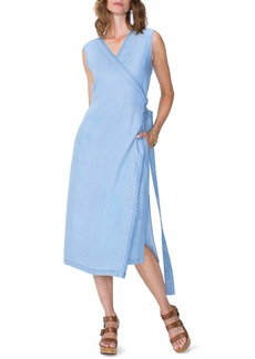 Not Your Daughter's Jeans NYDJ Chambray Release Detail Wrap Dress