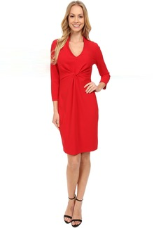 Christa Knotted Stretch Crepe Dress