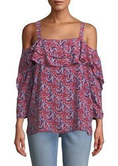 Not Your Daughter's Jeans NYDJ Cold-Shoulder Floral Blouse