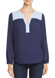 Not Your Daughter's Jeans NYDJ Color-Block Peasant Top - 100% Exclusive