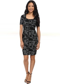 Not Your Daughter's Jeans NYDJ Dahlia Floral Houndstooth Dress