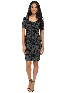 NYDJ Dahlia Floral Houndstooth Dress