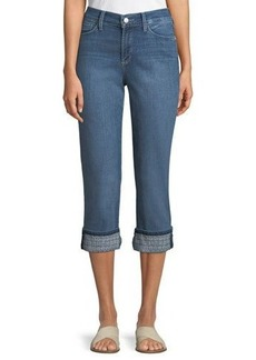 Not Your Daughter's Jeans NYDJ Dayla Embroidered-Cuff Boyfriend Jeans
