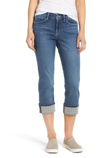 Not Your Daughter's Jeans NYDJ Dayla Embroidered Wide Cuff Capri Jeans (Heyburn)