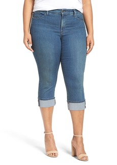 Not Your Daughter's Jeans NYDJ 'Dayla' Wide Cuff Stretch Crop Boyfriend Jeans (Plus Size)