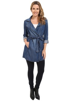 NYDJ Drapy Trench Coat Denim