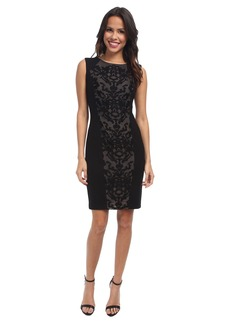 NYDJ Ellis Embroidered Mesh Ponte Dress