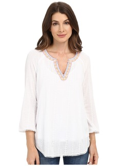 Not Your Daughter's Jeans NYDJ Embellished Gauze Blouse