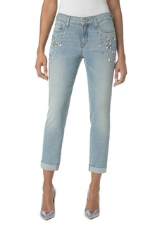 Not Your Daughter's Jeans NYDJ Embellished Roll-Cuff Boyfriend Jeans in Westland