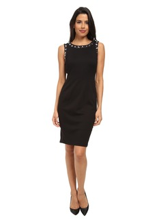 NYDJ Embellished Sleeveless Ponte Dress