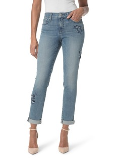 Not Your Daughter's Jeans NYDJ Embroidered Boyfriend Jeans (Pacific)