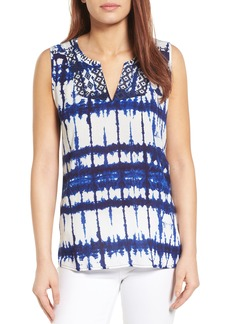 NYDJ Embroidered Tie Dye Top