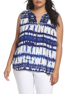 NYDJ Embroidered Tie Dye Top (Plus Size)