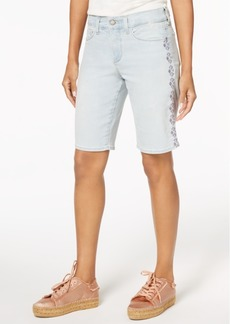 Not Your Daughter's Jeans Nydj Embroidered Tummy-Control Denim Shorts