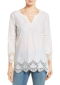 NYDJ Embroidered Voile Top (Regular & Petite)