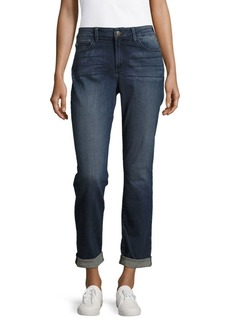 Not Your Daughter's Jeans Faded Cotton-Blend Denim Jeans