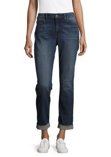 Faded Cotton-Blend Denim Jeans