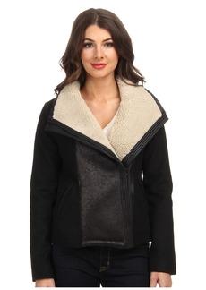NYDJ Faux Shearling Moto Jacket