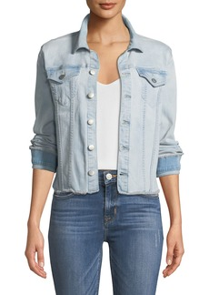 NYDJ Frayed Denim Jacket