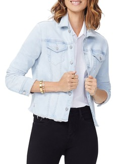 NYDJ Frayed Hem Denim Jacket