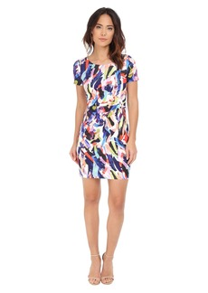 NYDJ Gabriella Printed Crepe Dress