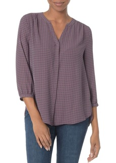 Not Your Daughter's Jeans NYDJ Geo Print Pleat Back Blouse