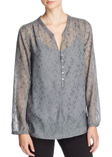 Not Your Daughter's Jeans NYDJ Helen Sparkle Embroidered Blouse