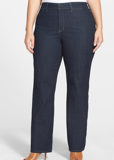 NYDJ 'Isabella' High Rise Stretch Trouser Jeans (Dark Enzyme) (Plus Size)