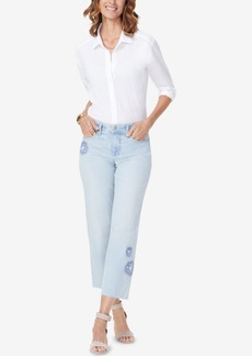 Not Your Daughter's Jeans Nydj Jenna Embroidered Ankle Jeans