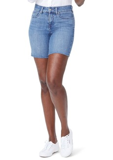 Not Your Daughter's Jeans NYDJ Jenna Frayed Denim Shorts (Maxwell)