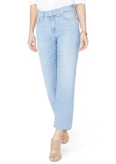 Not Your Daughter's Jeans NYDJ Jenna Straight Leg Raw Hem Ankle Jeans (Wanderlust) (Regular & Petite)