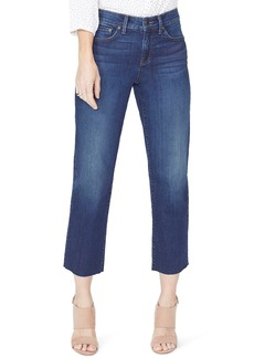 Not Your Daughter's Jeans NYDJ Jenna Straight Leg Raw Hem Ankle Jeans (Bezel) (Regular & Petite)