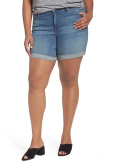 Not Your Daughter's Jeans NYDJ Jessica Boyfriend Denim Shorts (Paloma Rip) (Plus Size)
