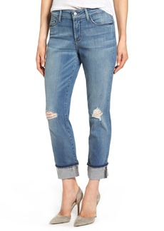 Not Your Daughter's Jeans NYDJ Jessica Distressed Fray Cuff Boyfriend Jeans (Paloma Rip)