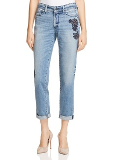 Not Your Daughter's Jeans NYDJ Jessica Embroidered Boyfriend Jeans in Prima