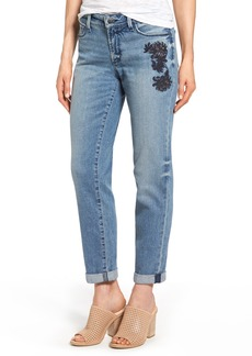 Not Your Daughter's Jeans NYDJ Jessica Embroidered Boyfriend Jeans (Prima)