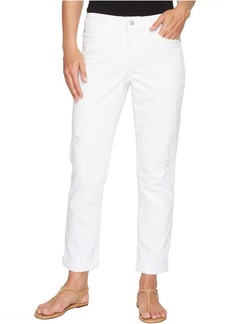 NYDJ Jessica Relaxed Boyfriend in Optic White Destructed