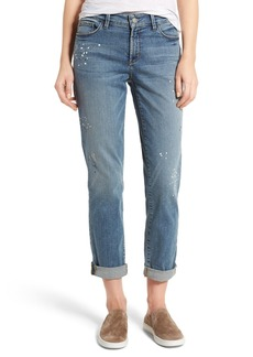 Not Your Daughter's Jeans NYDJ Jessica Splatter Print Stretch Relaxed Boyfriend Jeans