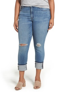 Not Your Daughter's Jeans NYDJ Jessica Stretch Relaxed Boyfriend Jeans (Paloma Rip) (Plus Size)