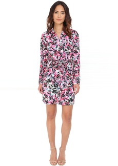 Kelsie Washed Crepe De Chine Shirtdress