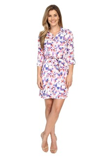 NYDJ Kelsie Washed Crepe De Chine Shirtdress