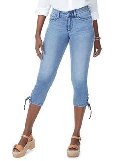 Not Your Daughter's Jeans NYDJ Lace-Up Hem Denim Capris