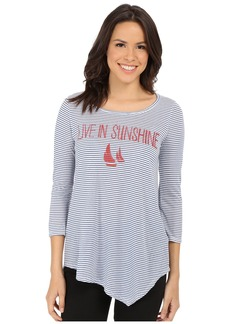 Not Your Daughter's Jeans NYDJ Leah Striped Graphic Tee w/Lurex