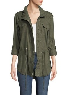 Not Your Daughter's Jeans NYDJ Linen-Blend Anorak Jacket